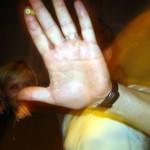 biała ręka